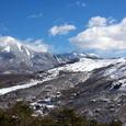 蓼科山雪景色